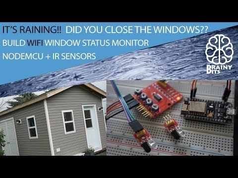 It's Raining!!  Let's build a WiFi window monitor using the NodeMCU - Tutorial