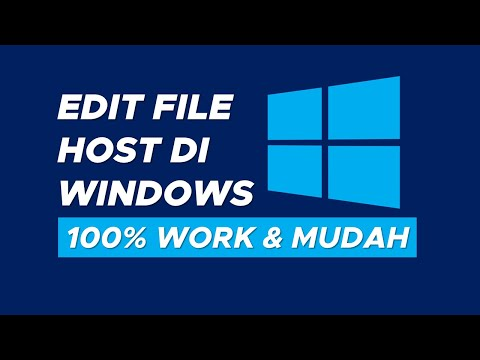 Cara Edit File Hosts di Windows