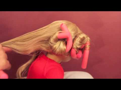 How to Curl Your Doll's Hair with Bendy Rollers