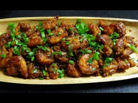 Chilli Prawns ( Desi Popcorn Shrimp )