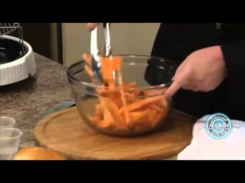 NuWave Oven  - Cooking Sweet Potato Fries