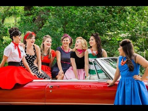 Senior Models 50s Themed Photo Shoot in Dallas