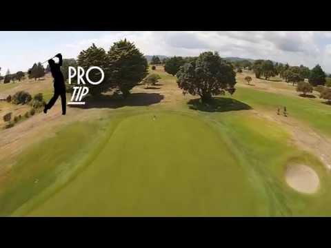 WHAKATANE GOLF COURSE - Hole 4 - Flyover & PRO TIP