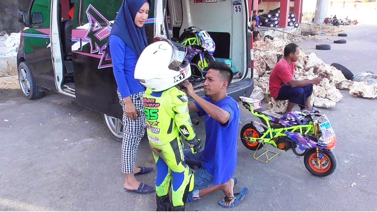 KEKOMPAKAN ORANG TUA DAN ANAK!! SAYHAN ALVERO SETTING MINI GP INDONESIA