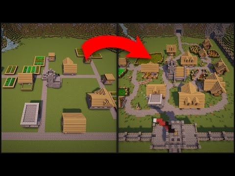 Complete Minecraft Village Transformation!