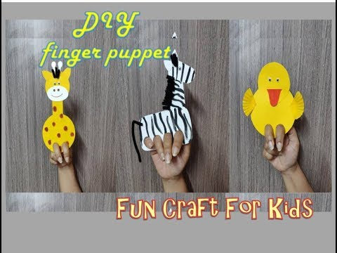 Finger puppet | Kids summer activity | DIY fun craft for children | Part 2