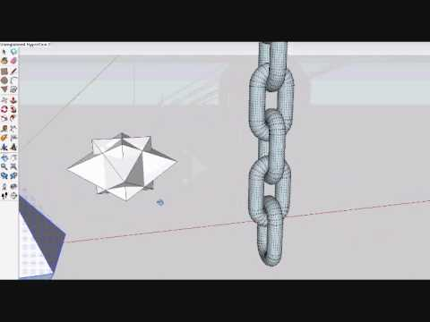 Drawing a 3d veracs flail on google sketchup