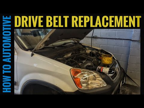 How to Replace a Serpentine Belt on a 2004 Honda CR-V with 2.4 L Engine