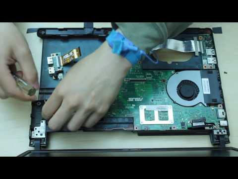 Asus Q400A Laptop Disassembly remove hard drive/ram motherboard etc.