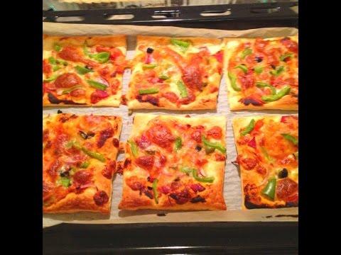 Puff Pastry Mini Pizzas | One Pot Chef