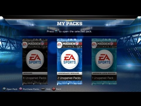 Madden 13 - Ultimate Team: MUT Intro w/ Legendary Packs, Rewards, and Team Preview