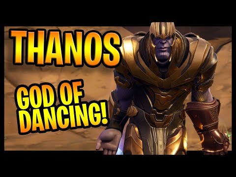 Thanos in Fortnite | The god of Dancing and Trolling