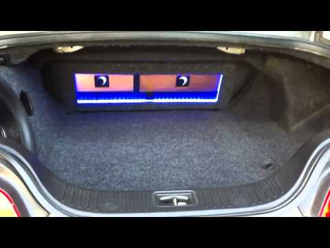 Infinity G35 sound system w/ custom trunk & subwoofer box