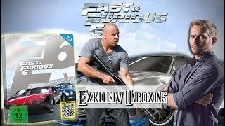 Fast & Furious 6 Steelbook Limited Edition Blu-ray unboxing