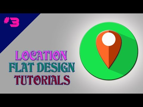 Location Flat Icon Design | UI/UX Design Tutorials