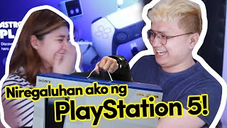 A supporter gifted me a PLAYSTATION 5! Kinilig ako!