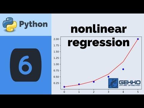 Nonlinear Regression with Python GEKKO