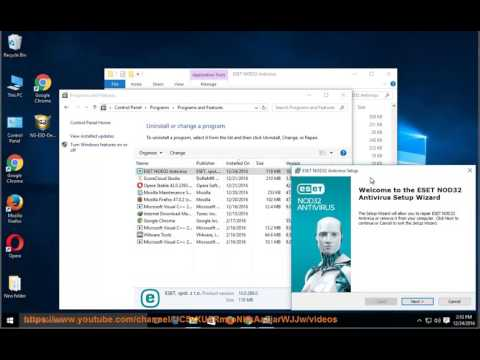 Uninstall ESET NOD32 Antivirus 10 on Windows 10