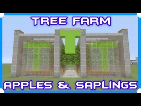 Oak Leaves & Saplings & Apple Tree Farm Bedrock Edition