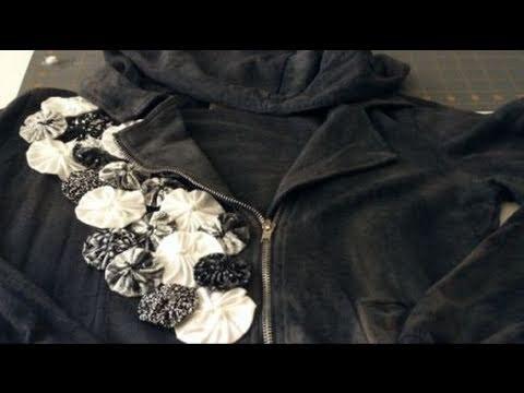 How to Make a Fabric Yo Yo & Embellishing with Yo Yo's
