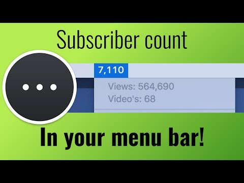YouTube subscriber count in your Mac's menu bar!