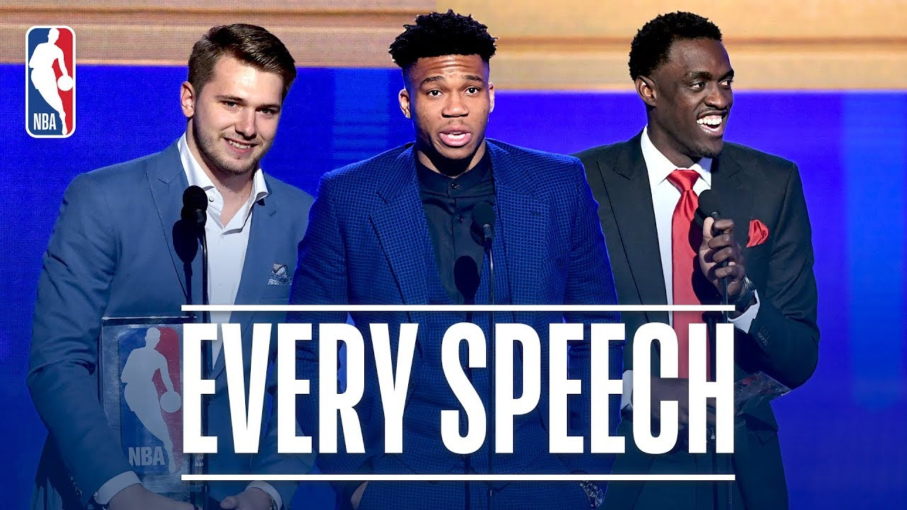 EVERY Speech From The 2019 NBA Awards!   Giannis, Doncic, Siakam and More!
