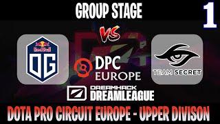 DreamLeague S14 DPC EU | OG vs Secret Game 1 | Bo3 | Group Stage Upper Division | DOTA 2 LIVE