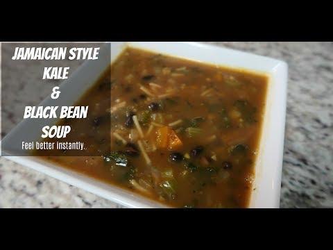 HOW TO MAKE JAMAICAN KALE & BLACK BEAN SOUP