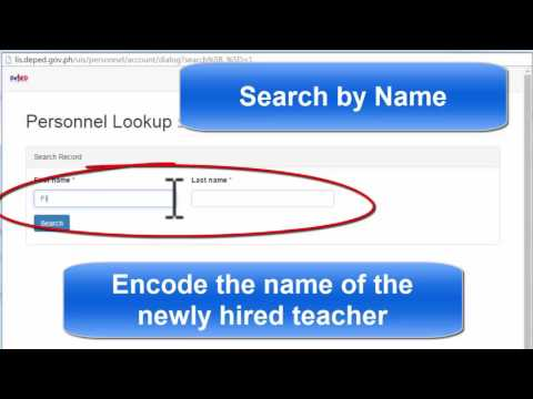 LIS : Adding Newly Hired Personnel In your School