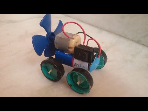 how to make a simple car . -- fan powered car