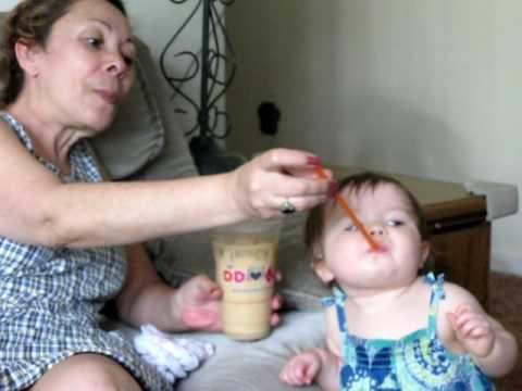 baby likes dunkin donuts iced coffee