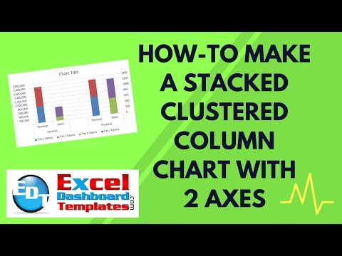 How-to Make an Excel Stacked Clustered Column Chart with 2 Axes