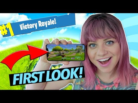 Fortnite Battle Royale Gameplay on Mobile!!! How to get it!