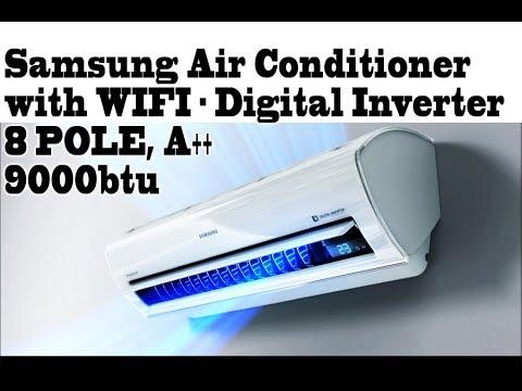 Samsung Smart Air conditioner, WIFI - 8 pole Inverter, premium AR09KSWSBWKNZE BEST AIR CONDITIONER