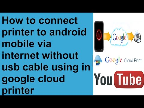 how to print in your android mobile through internet without usb