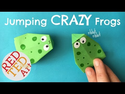 Easy Action Origami Frog that JUMPS - Easy Paper Toys Crafts - How to Make a a Paper Frog