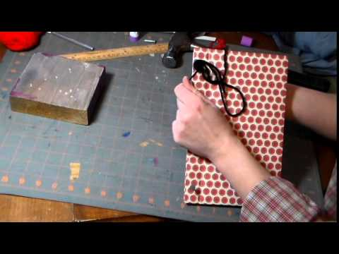 Simple Stab Bound, Hard Cover Book Binding Tutorial