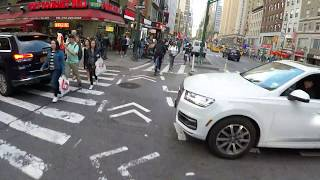 Loud Bicycle Car Horn and Orp Smart Horn Anti-Door (Annoying) Mode vs NYC Protected Bike Lane