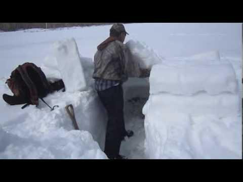 Building an A-Frame Snow Shelter - Daylight Version