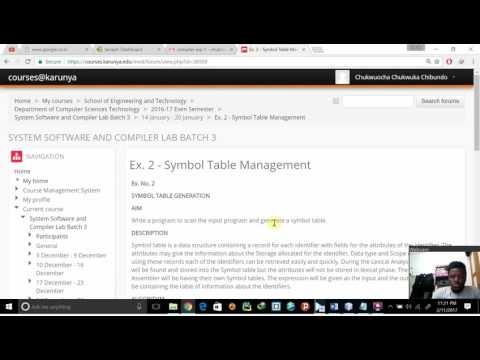 Compiler Ex. 2 - Symbol Table Management