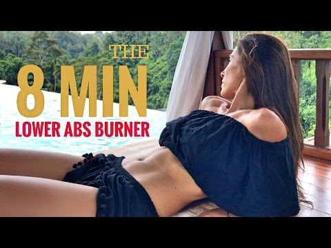 How To Flatten Your Lower Abs in 8 Min.   Abs Workout