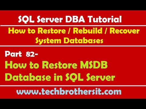 SQL Server DBA Tutorial 82-How to Restore MSDB Database in SQL Server