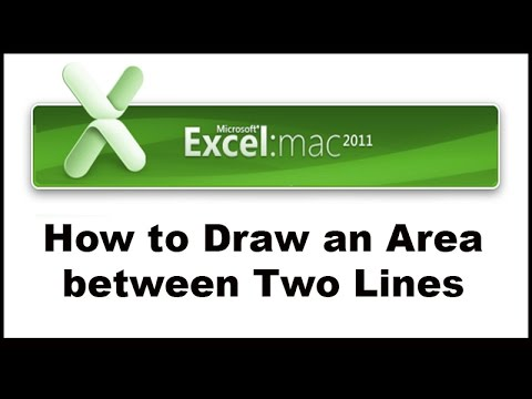 How to Draw the Area between Two Graphs in Excel