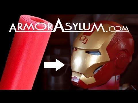ArmorAsylum - Iron Man foam helmet - raw real time building.