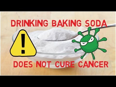 Drinking baking soda does not cure cancer