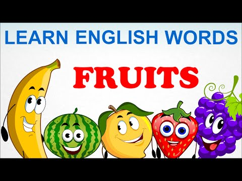 Fruits - Pre School - Learn English Words (Spelling) Video For Kids and Toddlers