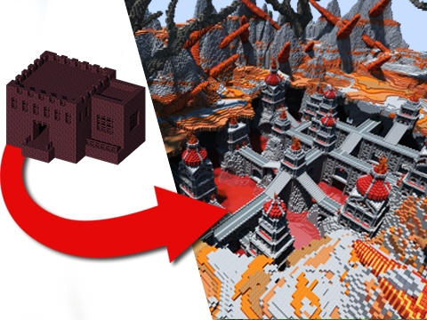 How To Transform A Nether Fortress - EPIC Build!