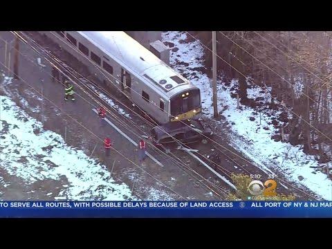 Brooklyn Bound LIRR Train Slams Into Car