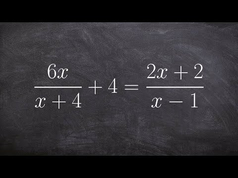 Solving a rational equation with two solutions
