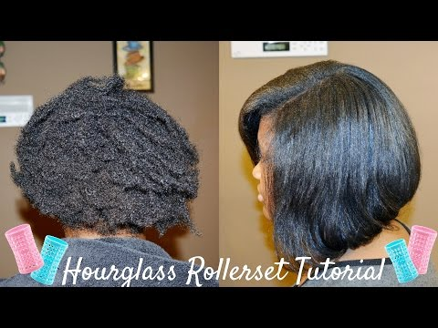 Hourglass Rollers | Rollerset on Natural Hair